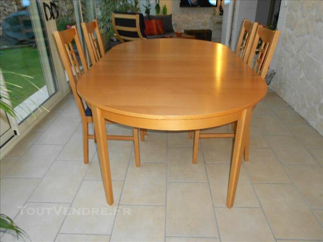 table ronde ovale avec 2 rallonges