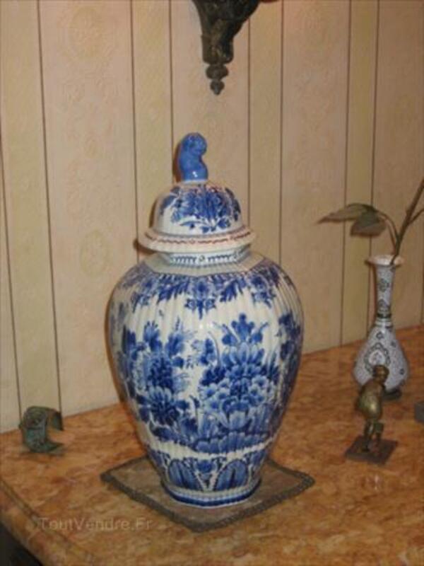 vase ancien faience de delft ceintrey