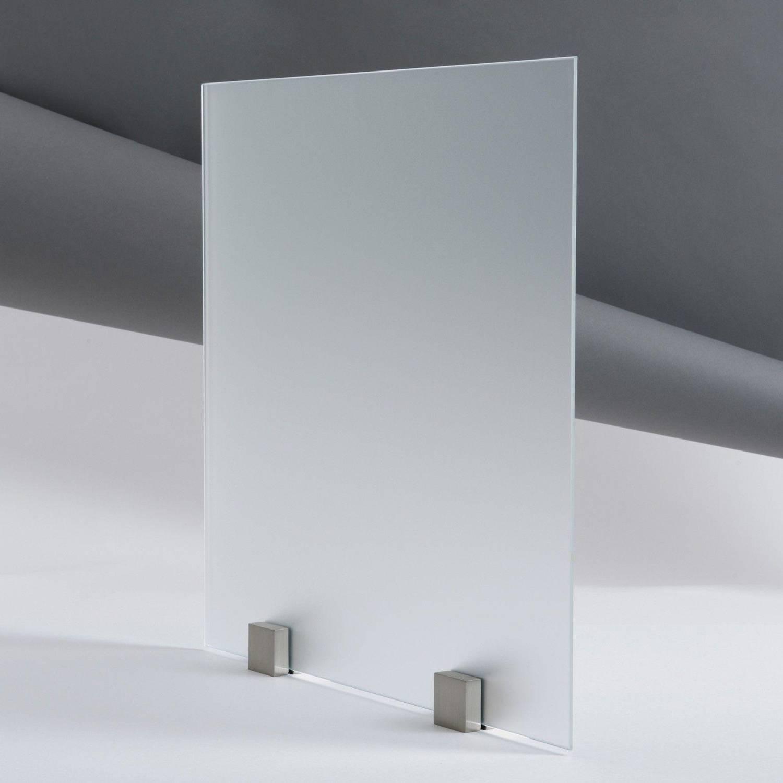 Kit Porte Coulissante En Verre Tremp Dpoli Acide Avec