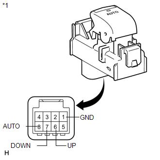 Toyota Venza: Power Window Switch Malfunction (B2312