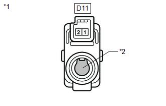 Toyota Venza: Room Temperature Sensor Circuit (B1411/11