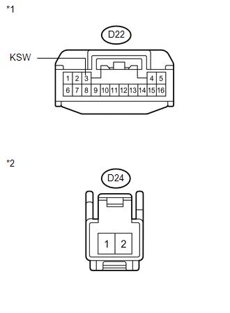 Toyota Venza: Push Switch / Key Unlock Warning Switch