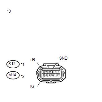 Toyota Venza: Open in Occupant Classification ECU Battery