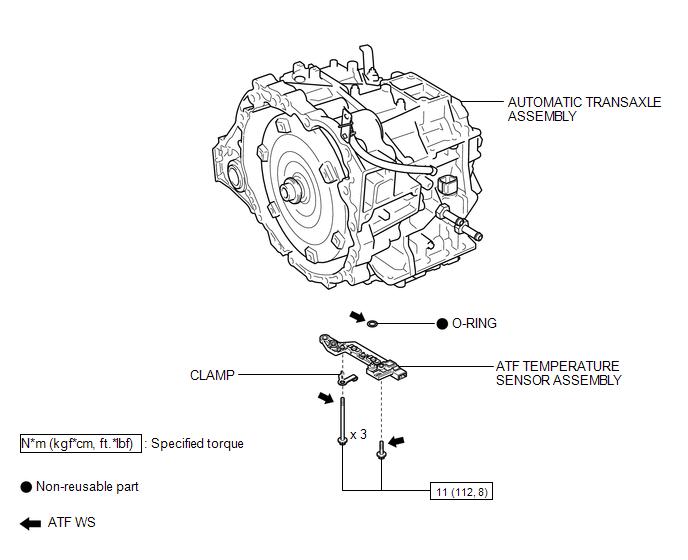 Toyota Venza: Atf Temperature Sensor(when Using The Engine