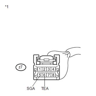 Toyota Venza: Evaporator Temperature Sensor Circuit (B1413