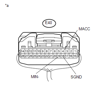 Toyota Venza: Microphone Circuit between Microphone and