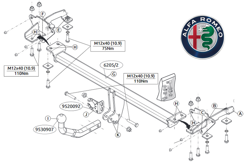 car tow bar wiring diagram
