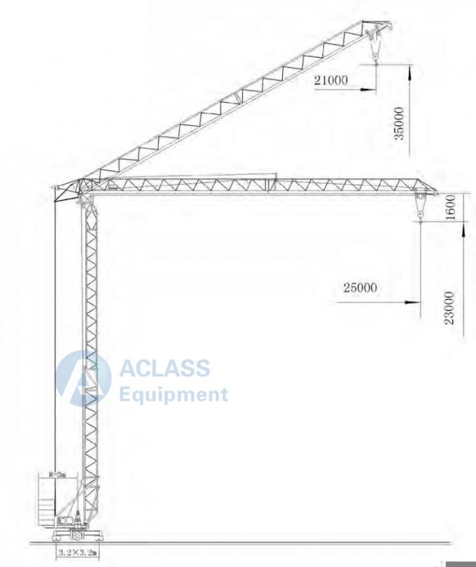 Mobile Lifting Equipment Fast Self Assembling Tower Crane