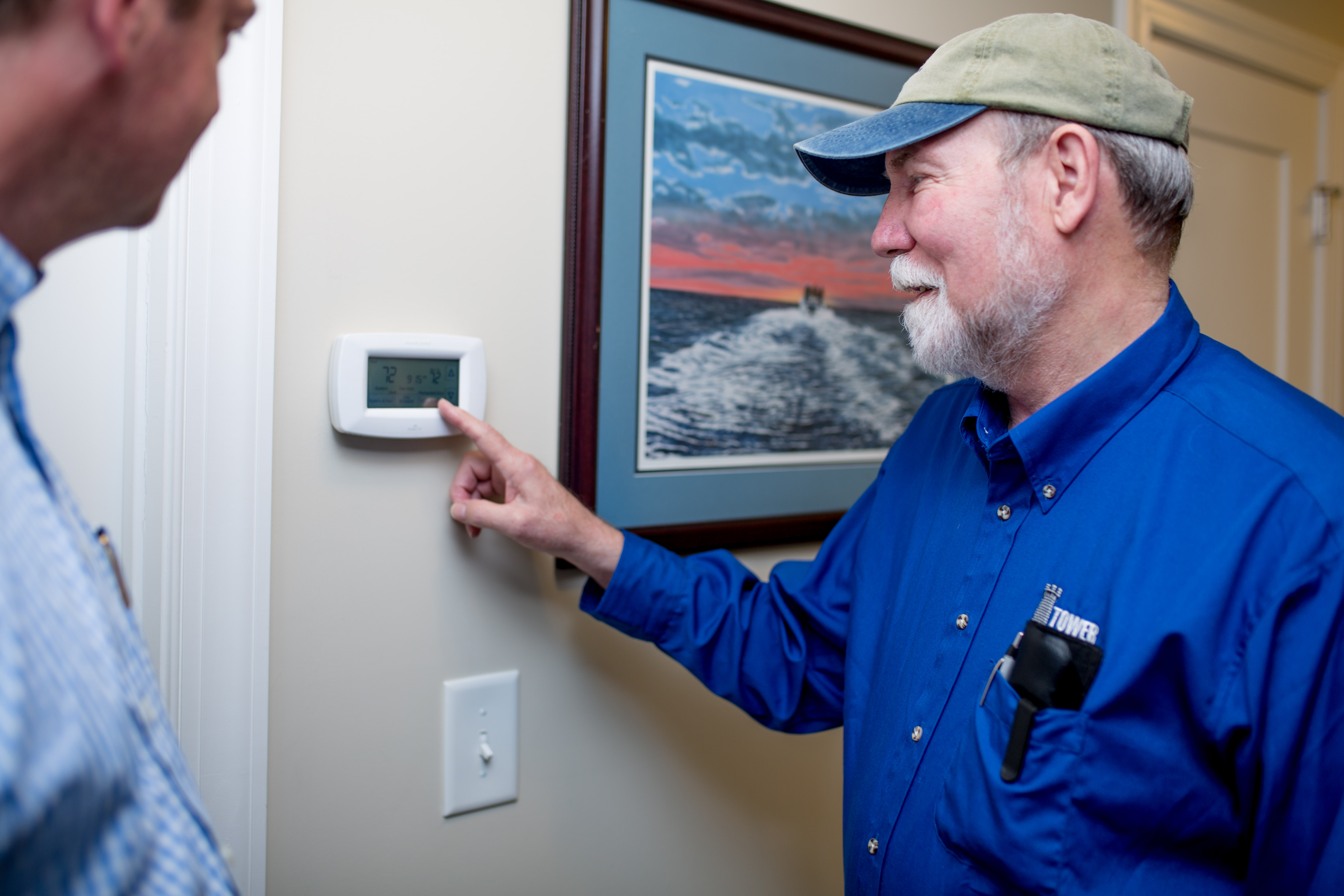 Tower Heating & Air Thermostat Settings