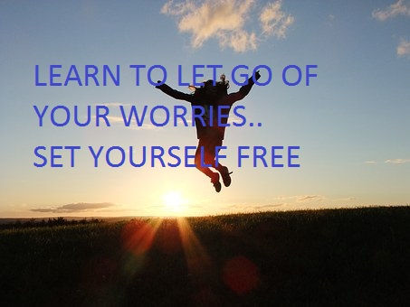 letting go and being yourself