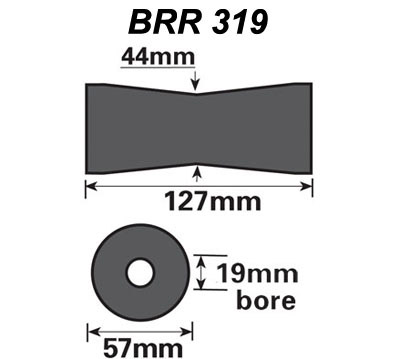 Vee roller to suit 19mm pin