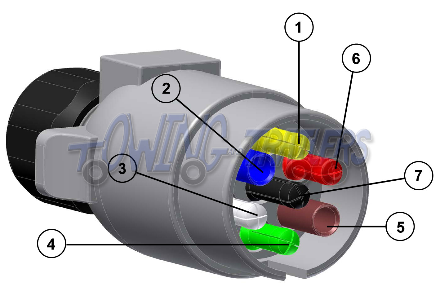 6 pin to 7 trailer adapter wiring diagram wire light switch electrics towing and trailers ltd for 12s plug