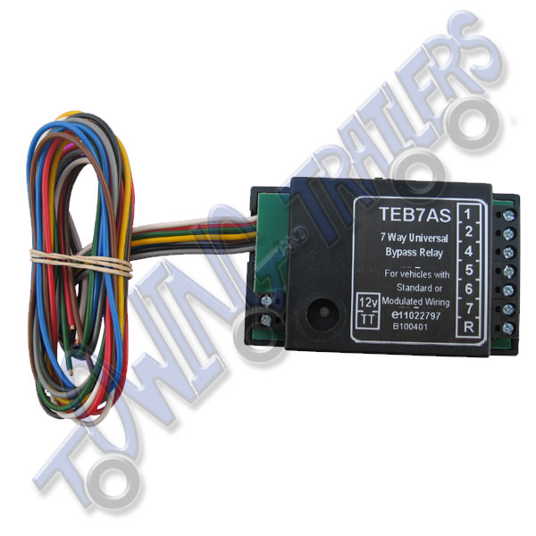 bypass relay wiring diagram harley davidson golf cart carburetor smart teb7as 7 way towing and trailers ltd
