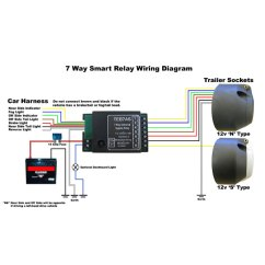 7n Plug Wiring Diagram Rc Airplane Servo Smart Bypass Relay Teb7as 7 Way Towing And Trailers Ltd