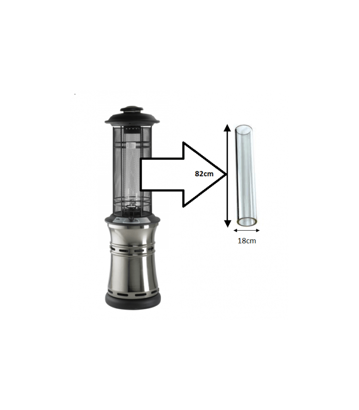 Replacement Glass Tube For The Santorini Patio Heater
