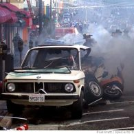 Car Accident Ignites Massive Blaze on Castro Street