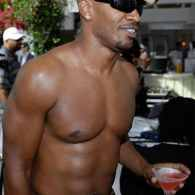 Jamie Foxx Drinks Pink in Miami