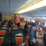 Tales from Air New Zealand's 'Pink flight' to Sydney