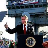 White House Rewrites 'Mission Accomplished' Banner