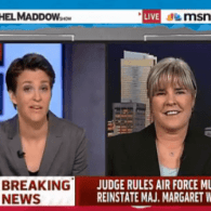 Watch: Rachel Maddow Interviews Major Margaret Witt
