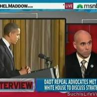 Watch: Rachel Maddow, Lt. Col. Victor Fehrenbach on the New Push for Senate 'DADT' Repeal