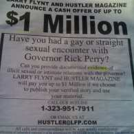 Larry Flynt Offers Million-Dollar Bounty for Evidence of Gay or Straight Tryst with Rick Perry