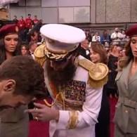 Sacha Baron Cohen's 'Dictator' Dumps Kim Jong Il's Ashes on Ryan Seacrest: VIDEO