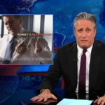 Jon Stewart Horrified by Splattering Santorum: VIDEO