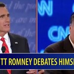 Mitt Romney Debates Himself: VIDEO