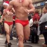 Holiday Packages on Display in Boston's Santa Speedo Run: VIDEOS