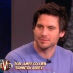 Downton Abbey's Gay Footman Rob James-Collier Asked About 'Male-on-Male' Kissing on 'The View': VIDEO