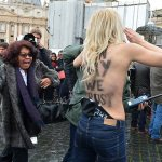 Topless Femen Activists Arrested Protesting Pope's Anti-Gay Policies