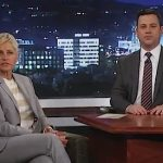 Ellen Visits Jimmy Kimmel, Shows Off Her Adopted Stock Photo Child, Cheryl Ann: VIDEO