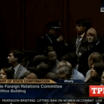 Code Pink Protester Interrupts Kerry Confirmation: VIDEO