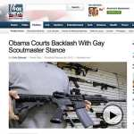 FOX News Features Assault Weapon as Illustration of Backlash Against Obama's 'Gay Scoutmaster Stance'