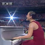 Alicia Keys Sings the National Anthem at Super Bowl XLVII