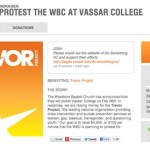 Vassar College Raises More Than $100,000 for the Trevor Project in Response to Westboro Baptist Church Protest