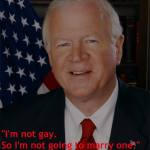 Sen. Saxby Chambliss: 'I'm Not Gay. So I'm not Going to Marry One'