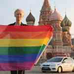 Tilda Swinton Shows Solidarity with LGBT Community, Raises Rainbow Flag Near the Kremlin