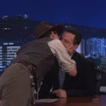 Johnny Depp Can't Stop Kissing Jimmy Kimmel: VIDEO