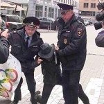 Russian Gay Activists Arrested for Protesting at Sochi Headquarters: VIDEO