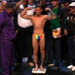 Orlando Cruz, First Openly Gay Boxer, Goes for Title Tonight, Weighs-In Wearing Rainbow Briefs: VIDEO
