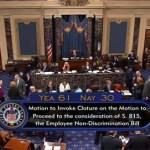 Senate Advances Employment Non-Discrimination Act (ENDA) in 61-30 Cloture Vote