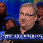 Rick Warren Blasts Concept of Tolerance, Claims Gay Marriage is Orwellian 'Doublespeak' – VIDEO