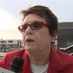Billie Jean King Arrives In Sochi, Talks Gay Rights