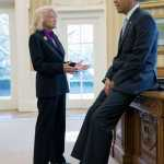 President Obama Thanks Edie Windsor in the Oval Office: PHOTO