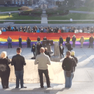 Hundreds Surround Idaho Statehouse in Support of LGBT Rights: VIDEO