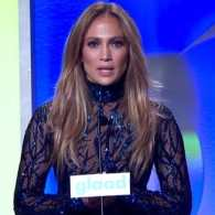 Jennifer Lopez Talks Emotionally About Gay Aunt in GLAAD Acceptance Speech: VIDEO