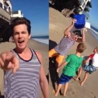 Matt Bomer Accepts Ice Bucket Challenge With Help of Sons: VIDEO