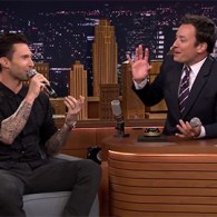 Adam Levine and Jimmy Fallon Play 'Wheel of Musical Impressions' – VIDEO